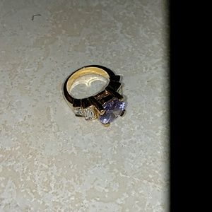 Jewelry - Gold Ring Purple Stone